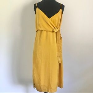 NWT J.O.A. Gold Yellow Mustard Wrap Top Dress